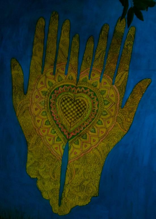 Heart Hand Art